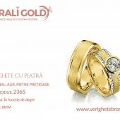 Verighete din aur cu piatră - Cod Produs: 2365