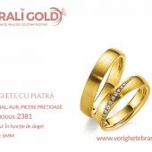 Verighete din aur cu piatră - Cod Produs: 2381