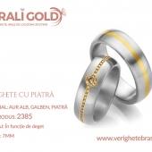 Verighete din aur cu piatră - Cod Produs: 2385