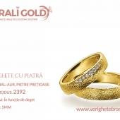 Verighete din aur cu piatră - Cod Produs: 2392