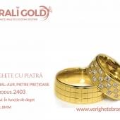 Verighete din aur cu piatră - Cod Produs: 2403