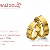 Verighete din aur cu piatră - Cod Produs: 2430