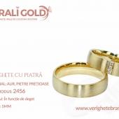 Verighete din aur cu piatră - Cod Produs: 2456
