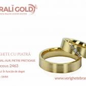 Verighete din aur cu piatră - Cod Produs: 2463