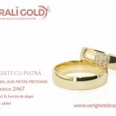 Verighete din aur cu piatră - Cod Produs: 2467