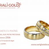 Verighete din aur cu piatră - Cod Produs: 2506