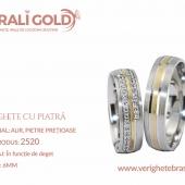 Verighete din aur cu piatră - Cod Produs: 2520