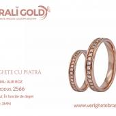 Verighete din aur cu piatră - Cod Produs: 2566
