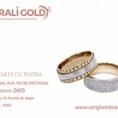 Verighete din aur cu piatră - Cod Produs: 2605