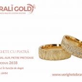 Verighete din aur cu piatră - Cod Produs: 2618