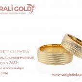 Verighete din aur cu piatră - Cod Produs: 2632