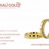 Verighete din aur cu piatră - Cod Produs: 2637