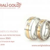Verighete din aur cu piatră - Cod Produs: 3065