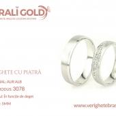 Verighete din aur cu piatră - Cod Produs: 3078
