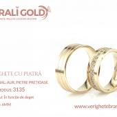 Verighete din aur cu piatră - Cod Produs: 3135