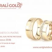 Verighete din aur cu piatră - Cod Produs: 3146