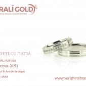 Verighete din aur cu piatră - Cod Produs: 3151