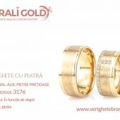 Verighete din aur cu piatră - Cod Produs: 3176