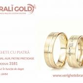 Verighete din aur cu piatră - Cod Produs: 3181