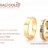 Verighete din aur cu piatră - Cod Produs: 3262