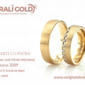 Verighete din aur cu piatră - Cod Produs: 3339