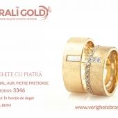 Verighete din aur cu piatră - Cod Produs: 3346