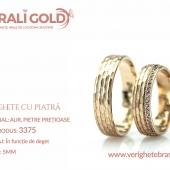 Verighete din aur cu piatră - Cod Produs: 3375