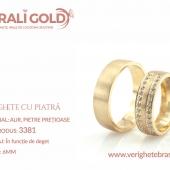 Verighete din aur cu piatră - Cod Produs: 3381