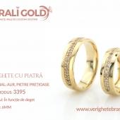 Verighete din aur cu piatră - Cod Produs: 3395