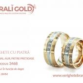 Verighete din aur cu piatră - Cod Produs: 3468