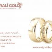 Verighete din aur cu piatră - Cod Produs: 3478