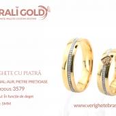 Verighete din aur cu piatră - Cod Produs: 3579