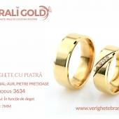 Verighete din aur cu piatră - Cod Produs: 3634