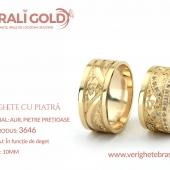 Verighete din aur cu piatră - Cod Produs: 3646