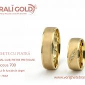 Verighete din aur cu piatră - Cod Produs: 700